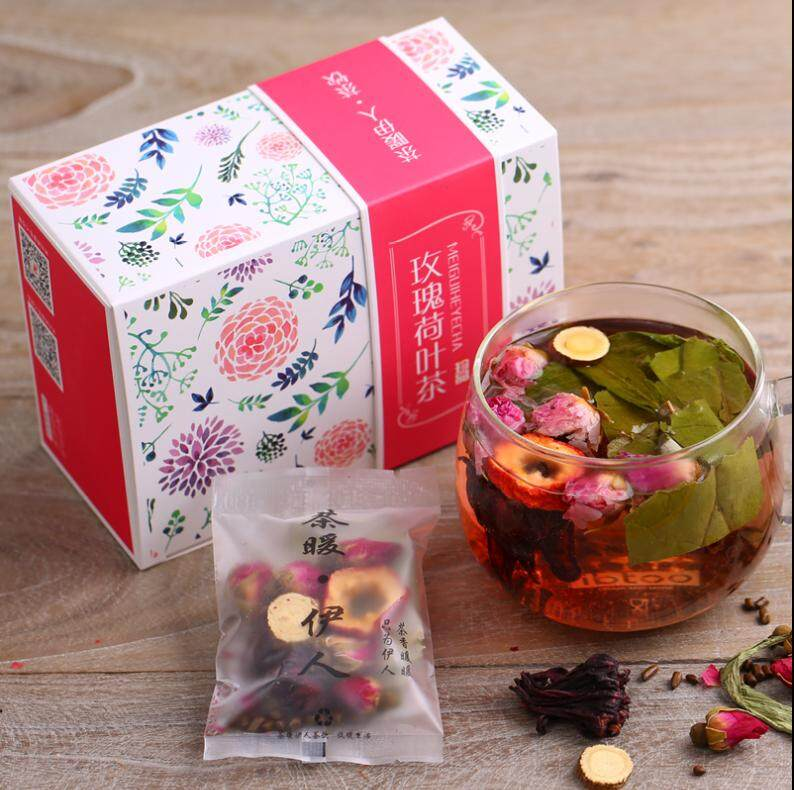 Slimming Pure Rose Lotus Leaf Tea Combination 30 Packets (300g) By Top Store.
