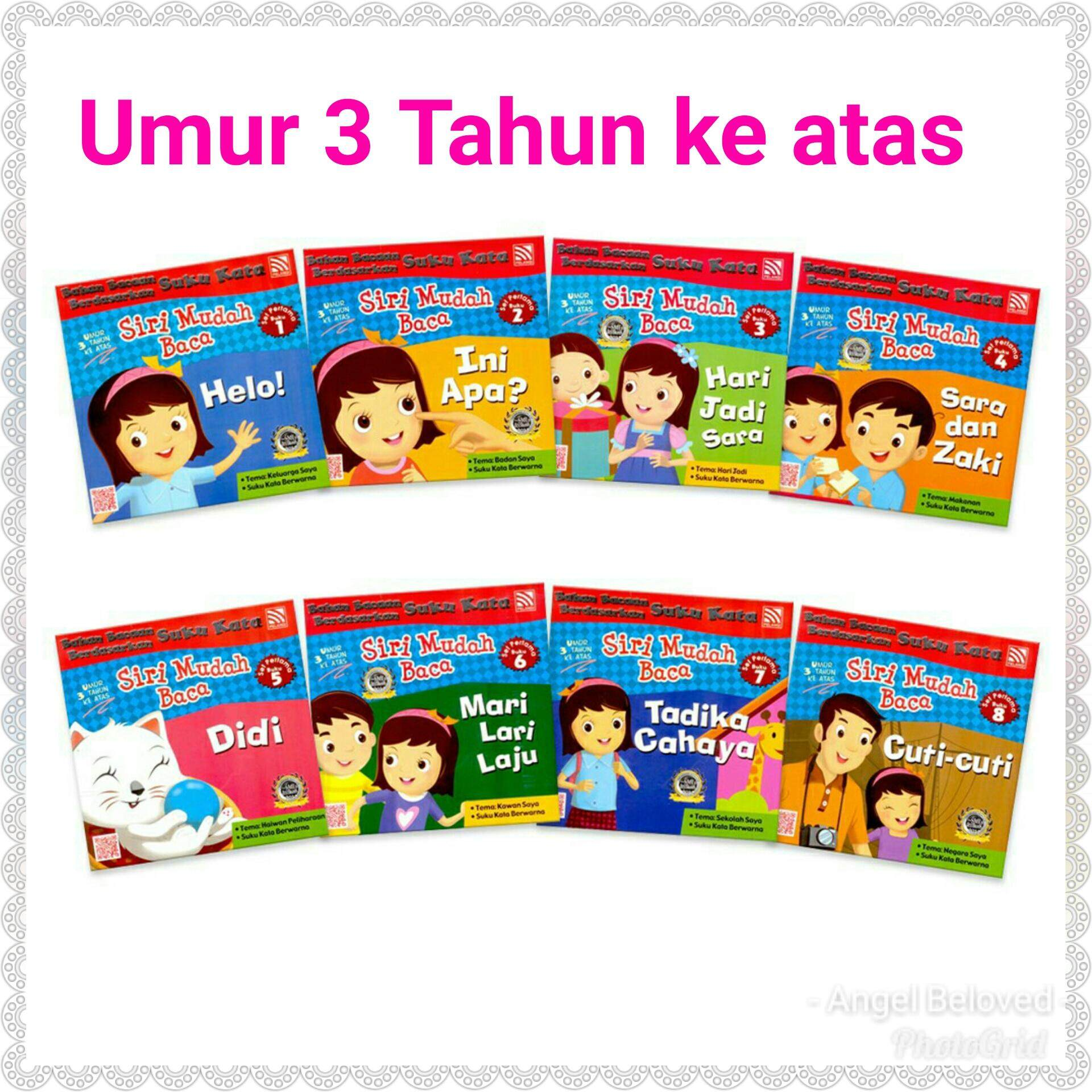 Suku Kata Sri Mudah Baca Set Pertama (for Age Above 3 Year Old) (8 Books) / Books For Kids / Children / Early Learning By Angel Beloved Trading.