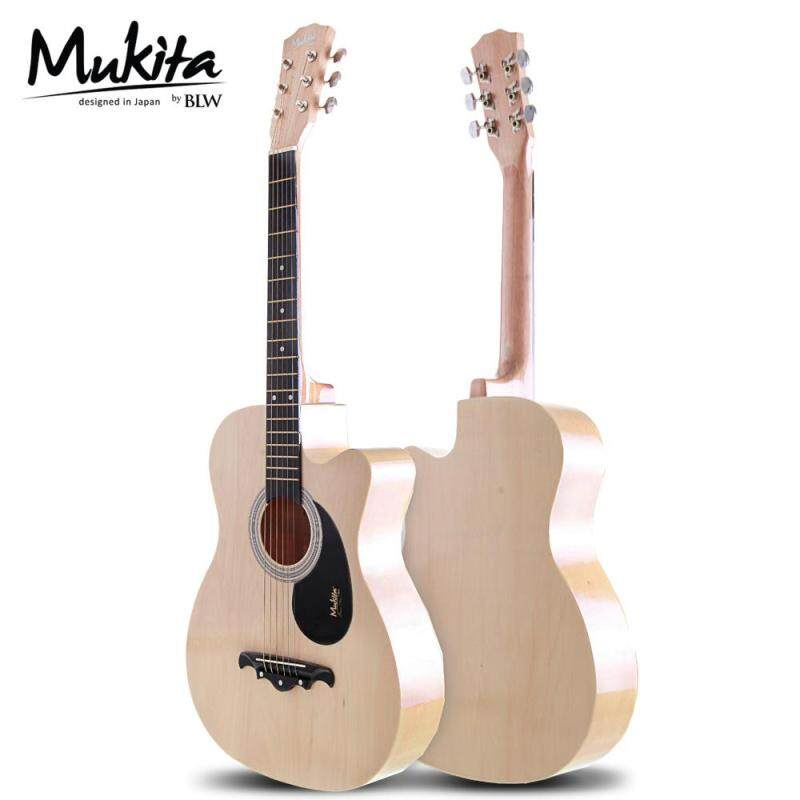 Mukita® by BLW Standard Acoustic Folk Cutaway Basic Plus Signature Truss Rod Guitar Package 38 Inch Malaysia