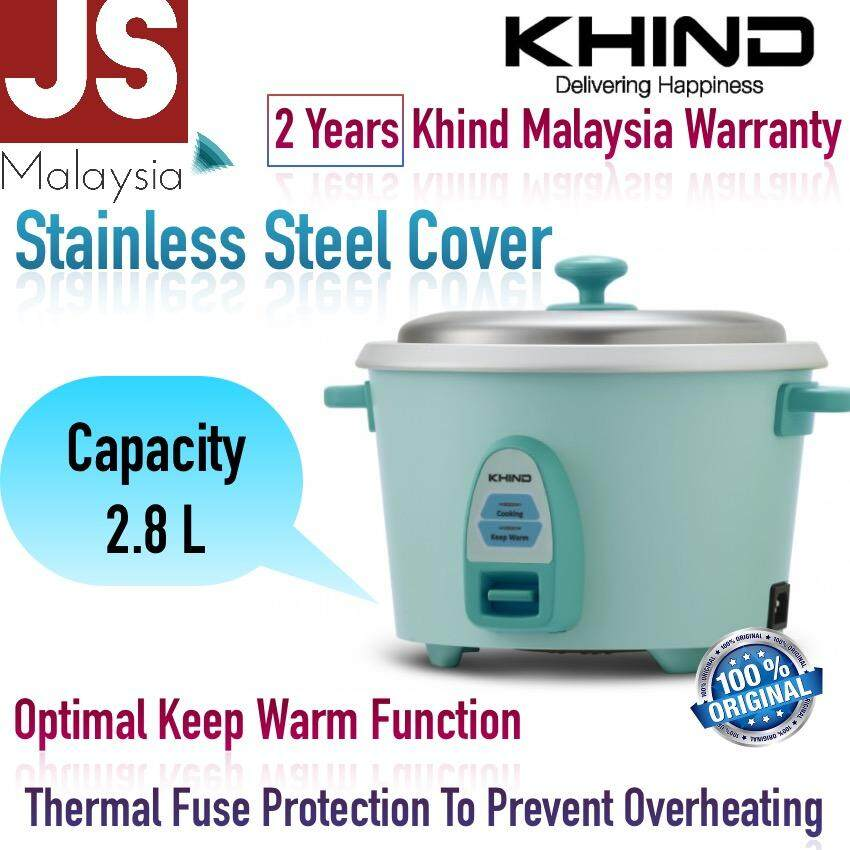 Khind 2 8l Rice Cooker With Stainless Steel Cover Rc828n Years Malaysia Warranty
