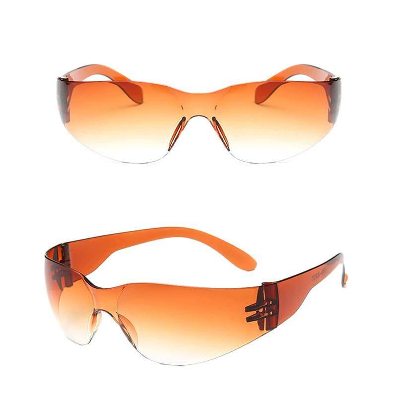 Orange Sunshine Safety Glasses Eye Protection Goggles Eyewear Dental Lab Work Protective Black&Grey