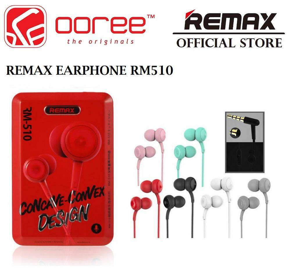 Remax Headphones Headsets In Ear Price Malaysia Earphone Rm 501 With Microphone Headset Handsfree Genuine Rm510 Stereo 35mm Mic Wired Control