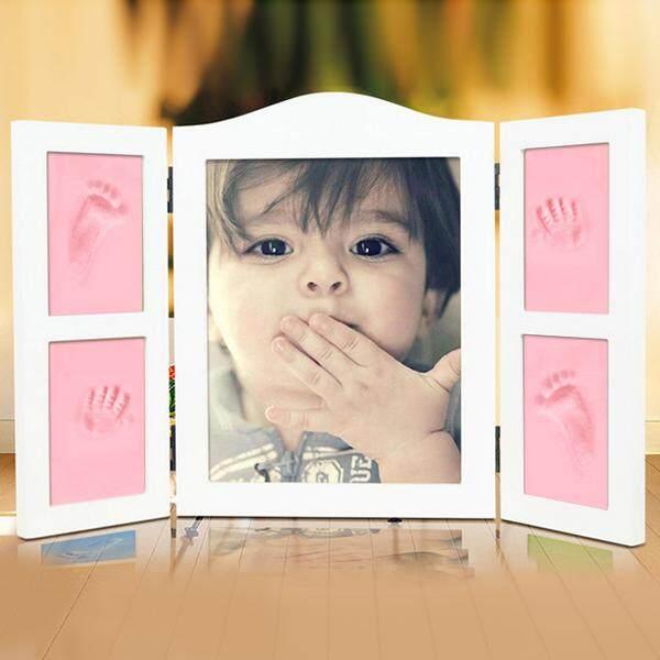 Baby Wood Photo Frame Fingerprint Mud Set Memory Gift