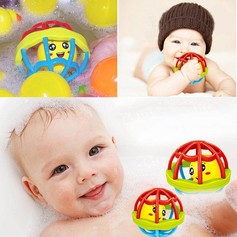 Baby Bite Soft Rubber Fitness Ball Appease Rattle Hand Ball Toy Newborn Baby Grasping Early Education Puzzle Soft Hand Grip Ball By Rytain.