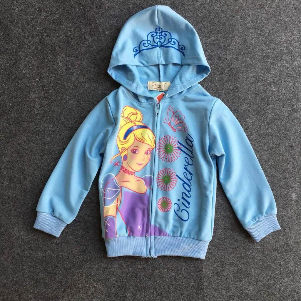 [sherynn.com] Cinderella Hoodie Sweater Blue (3-5y) By Sherynn.com.