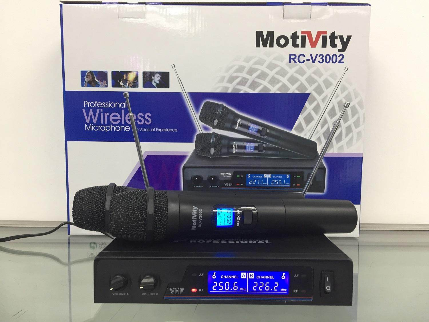 Motivity RC-V3002 Dual Channel VHF Wireless Microphone Malaysia
