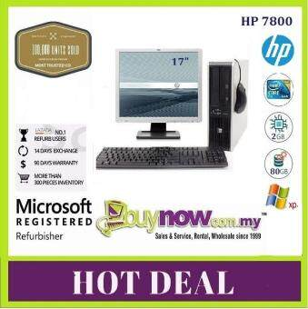 REFURBISHED USED COMPUTER HP Compaq dc7800 (SFF) Desktop PC (Factory Refurbished)+ Branded LCD 17 Monitor,C2D,2GB,80GB,FREE WiFi