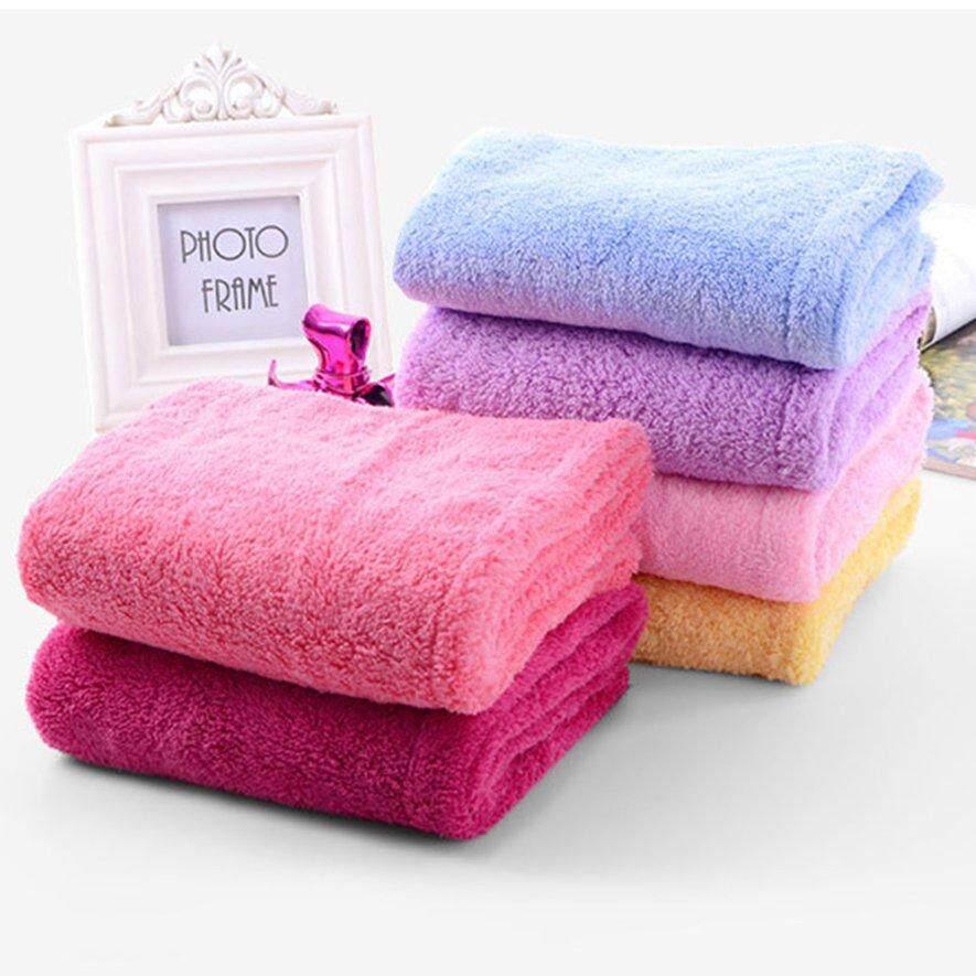 1PC Quick Fast Dry Microfiber Towel Hair Magic Drying Turban Wrap Hat Cap Bathing Towels Washcloths