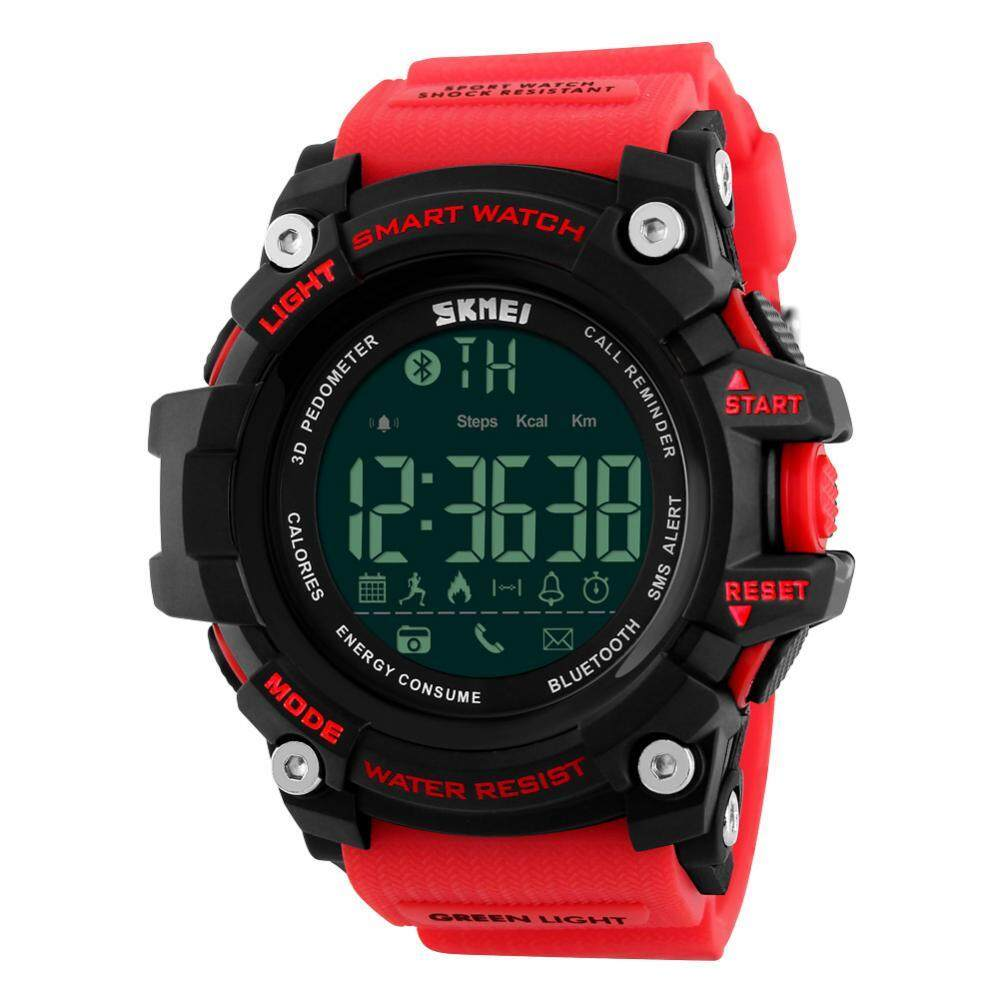 2Colors Mens Male Digital Bluetooth Back Light Round Waterproof Sport Watch Wristwatch Malaysia