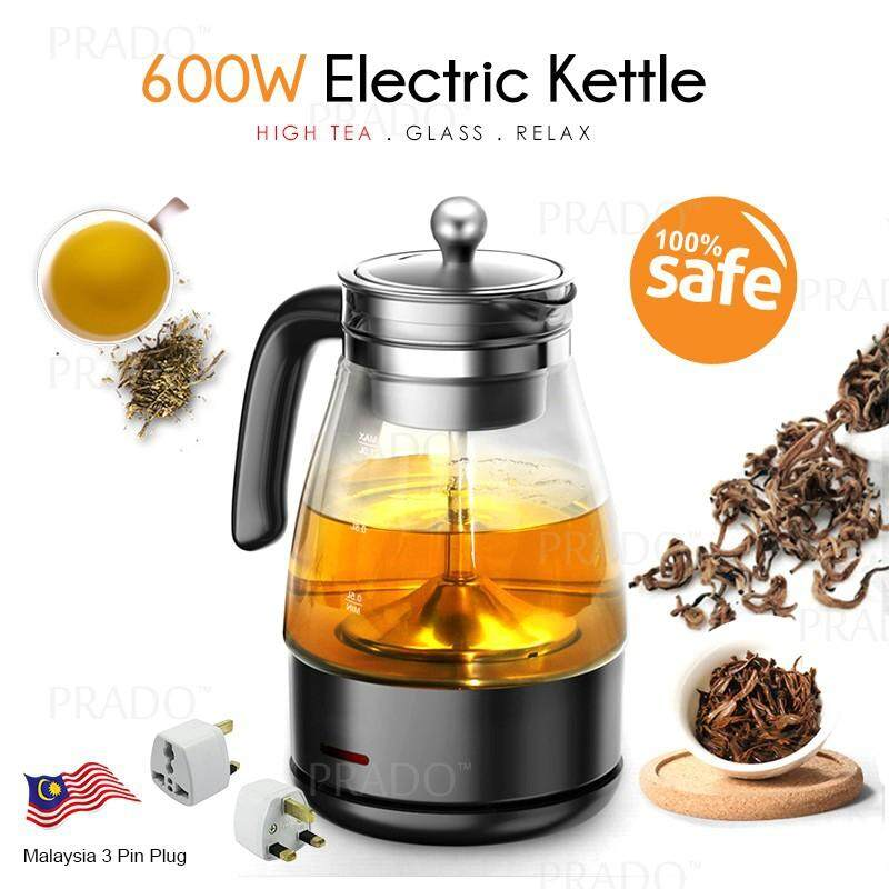 GADGET HERO Tea Coffee Electric Percolator Glass Pot Maker 1L 600W Automatic Re-Heat Hot Cooker Kettle PC10G