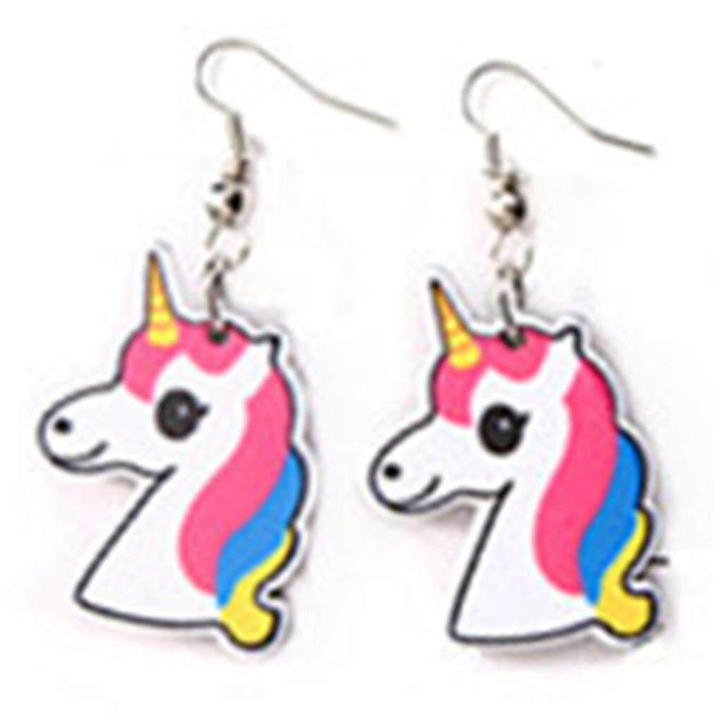 LALANG Women Cute Animal Earrings For Cartoon Unicorn Long Earings Fashion Jewelry Accessories