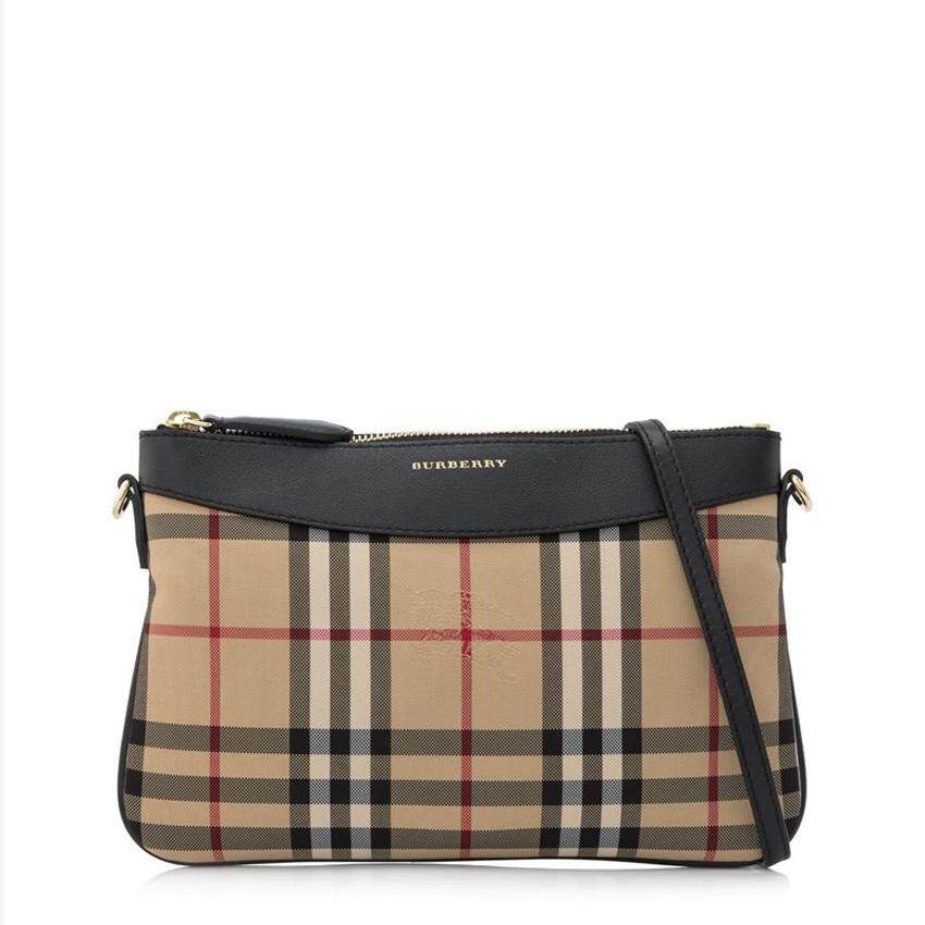 Burberry Horseferry Check Clutch Bag Black