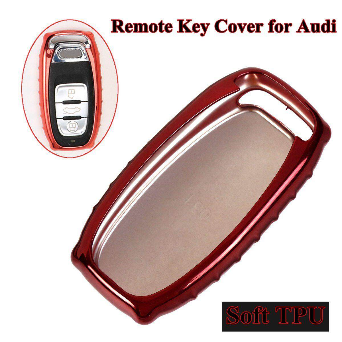 Tpu Remote Key Cover Case Shell For Audi A4 A5 A6 Q5 Rs7 S7 A7 A8 Q5 S5 S6 (red) By Teamwin.