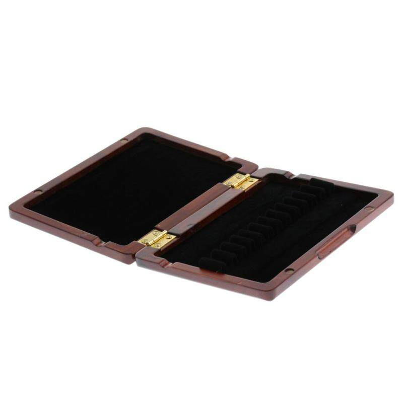 Miracle Shining Wooden Oboe Reed Storage Case for 12 Reeds Dark Red Malaysia
