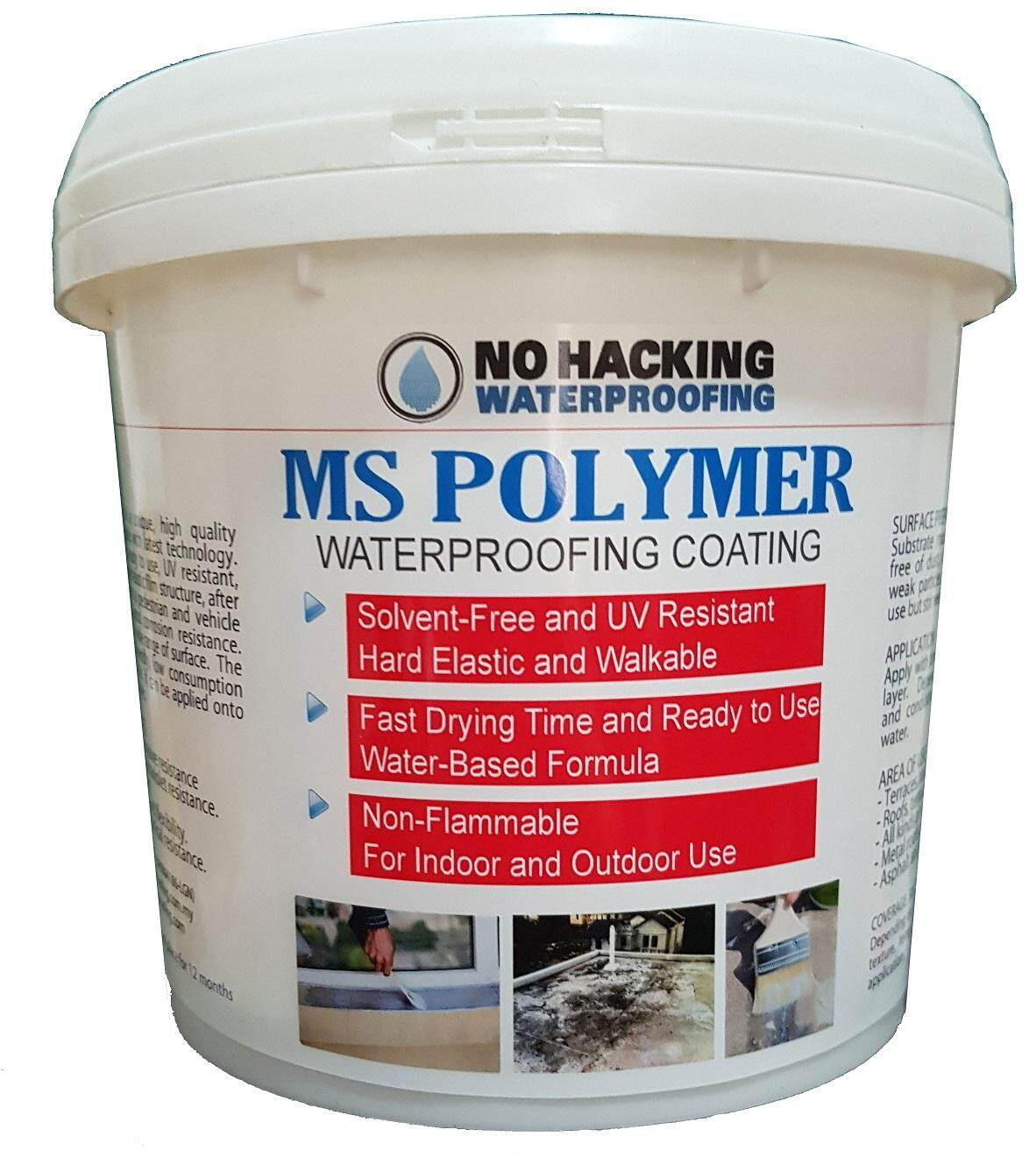 No Hacking Waterproofing MS Polymer for Slab & Window - 1 Litre