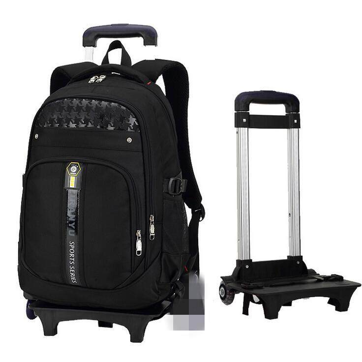 Boys Girls Trolley Backpack School Student Bag Travel Pack With 2 Rolling Wheels By Autoleader.