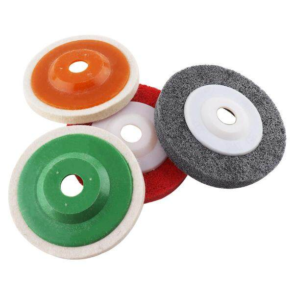 4pcs Multifunction Wool Polishing Disc Pads and Nylon Wheels for Angle Grinder