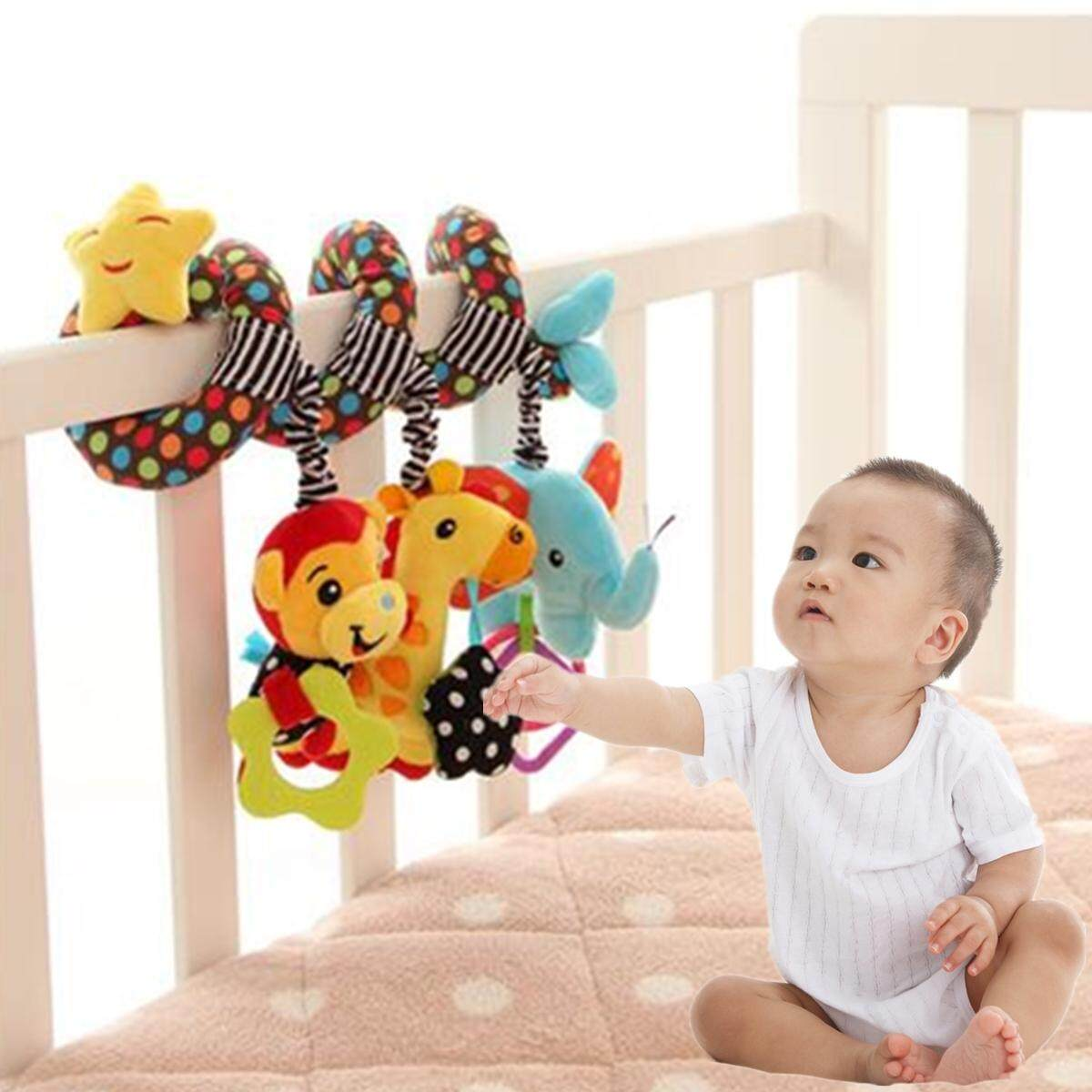 Infant Developmental Crib Pram Hanging Stroller Baby Boys Girls Spiral Toys Bell By Freebang.