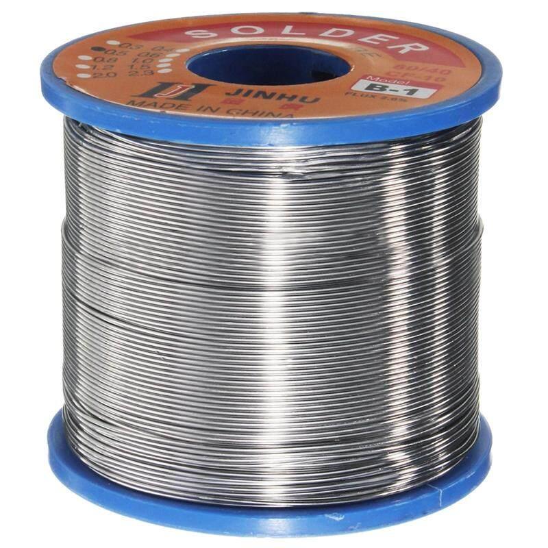 JINHU 400g 60/40 Tin lead Solder Flux Wire Rosin Core Soldering Roll, 1.0Mm