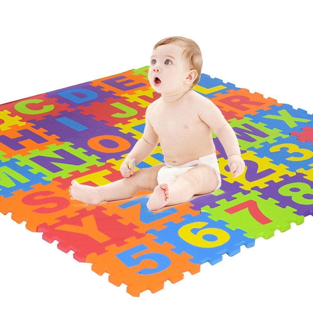 NiceToEmpty 36pcs Colorful Puzzle,Foam Play Puzzle Alphabet&Number Crawling Mat Educational Toy for Kids