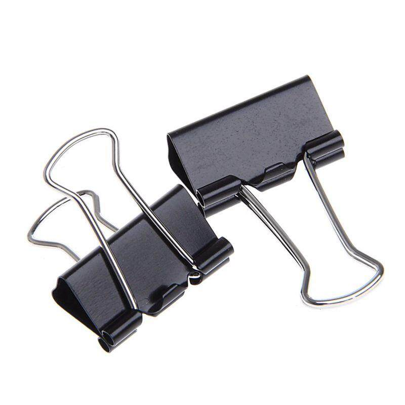 48 Pcs 25mm Black Metal Binder Clips File Paper Clip Document Office Supplies By Fastour.