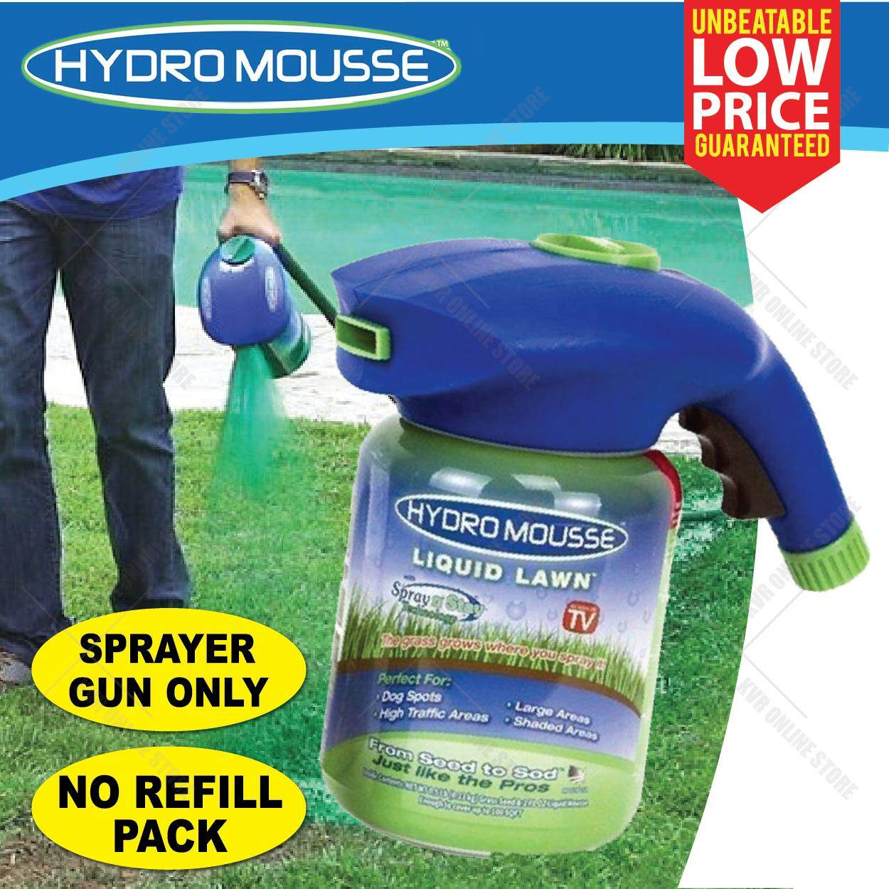 Hydro Mousse Sprayer Gun Liquid Lawn Garden Growth Grass Hydroseeding