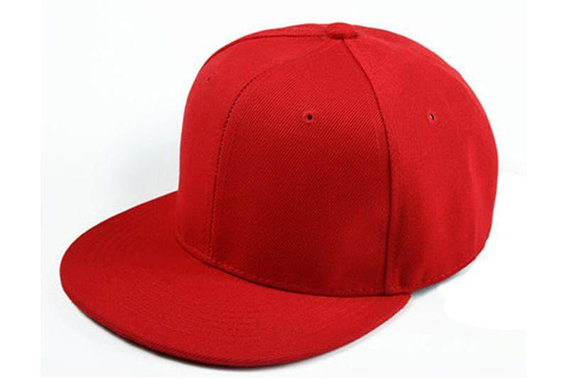 16816cf49da Plain Re-entry Hip-Hop Baseball Cap Boy Adjustable Hat Red