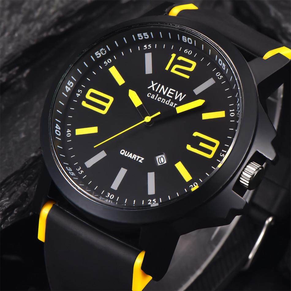 Fashion Mens Stainless Steel Luxury Sport Date Analog Quartz Wrist Watch Radocie By Radocie.