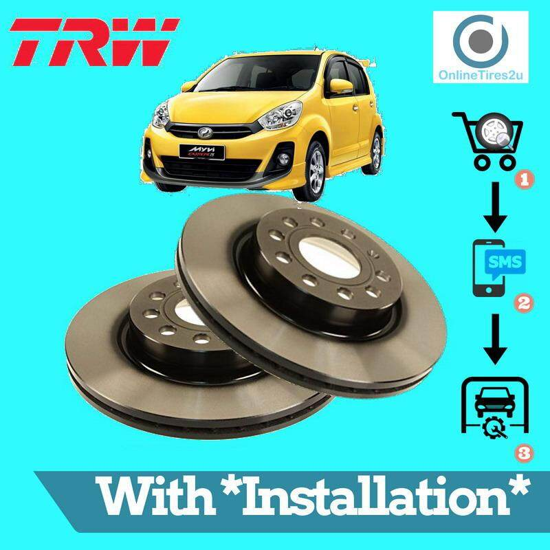 Brake Disc Rotor Front (1 Pair) - Perodua Myvi Lagibest 2012-2017 (with Installation) By Onlinetires2u.