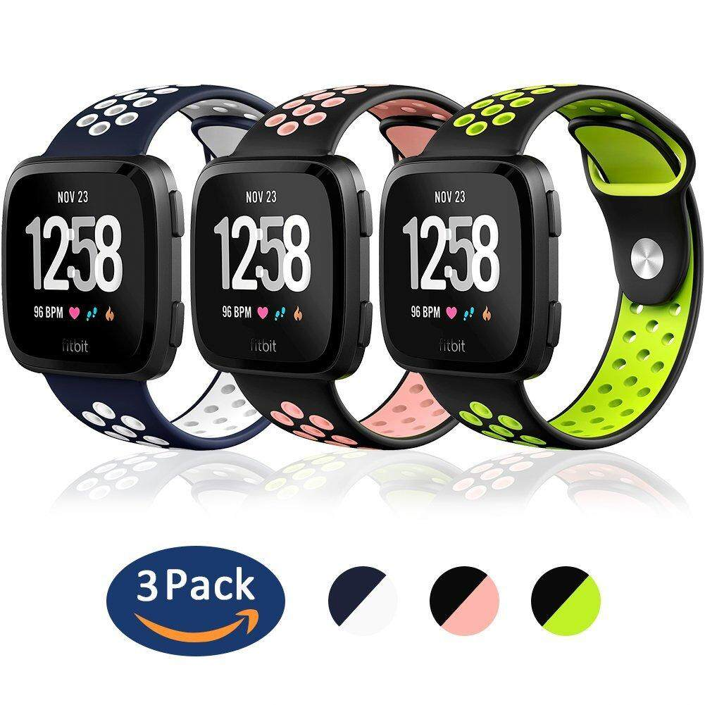 Replacement Accessories Bands Pure Color Series Strap for Fitbit Versa 2 Pack
