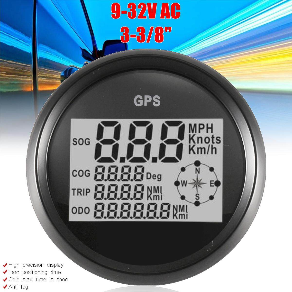 3-3/8 Digital Gps Speedometer Gauge + High Speed Recall By Autoleader.