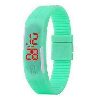 [Sherynn.com] Unisex LED Green Silicone Digital Wrist Watch Malaysia