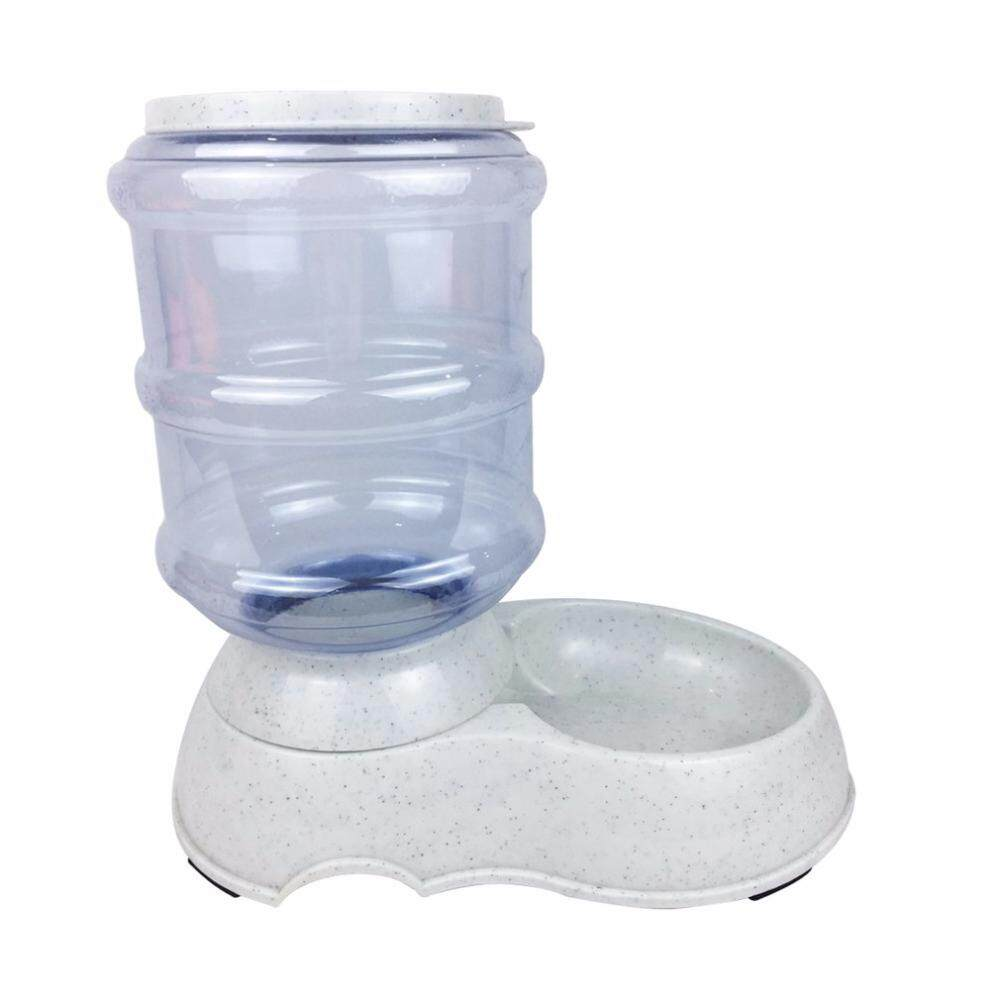 3.5l Large Automatic Pet For Cats Dogs Plastic Dog Food Bowl Pets Feeder By Yoyonow.