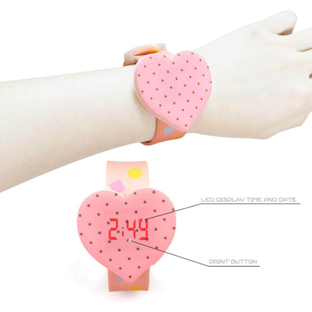 Heart Watch Girl Cartoon Silicone Touch Screen LED Digital Watches Malaysia