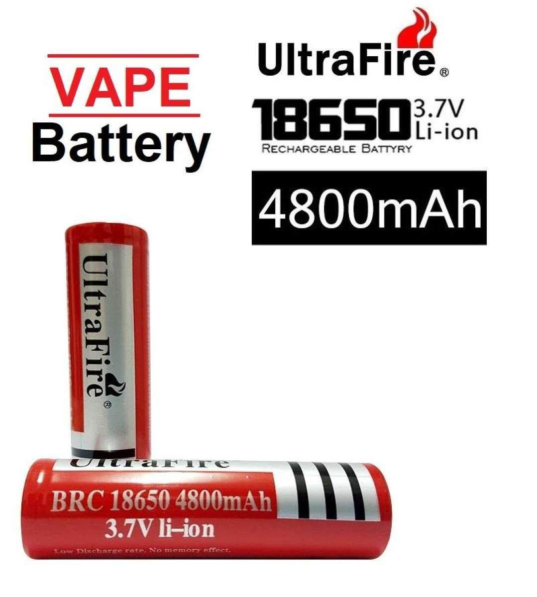 3.7v 18650 Ultrafire 4800mah Vape Rechargeable Lithium Ion Battery Brc 1/2/4/8pcs By Fly Automart.