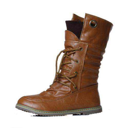 6d6cbfa1c Women's fashion motorcycle martin ankle boots for women,Autumn winter snow  boots leather flats shoes