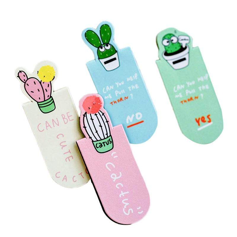 3pcs Linfang Creative Lovely Cactus Shape Student Practical Portable Magnetic Bookmarks By Linfang Store.