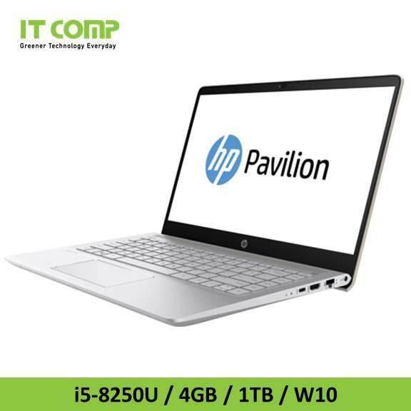 HP PAVILION 14-BF102TX (i5 8250U/4G/1TB/GT940/W10) GOLD NOTEBOOK Malaysia