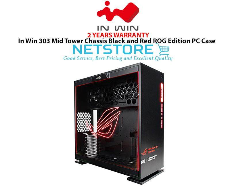 In Win 303 Mid Tower Chassis Black and Red ROG Edition RGB PC Gaming Case INWIN Malaysia