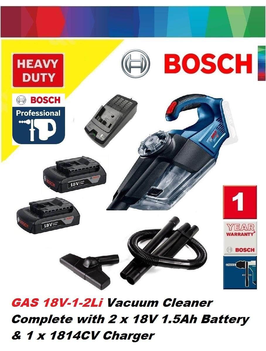 Bosch GAS 18V-1-2Li Cordless Vacuum Cleaner Set, Dust extractor