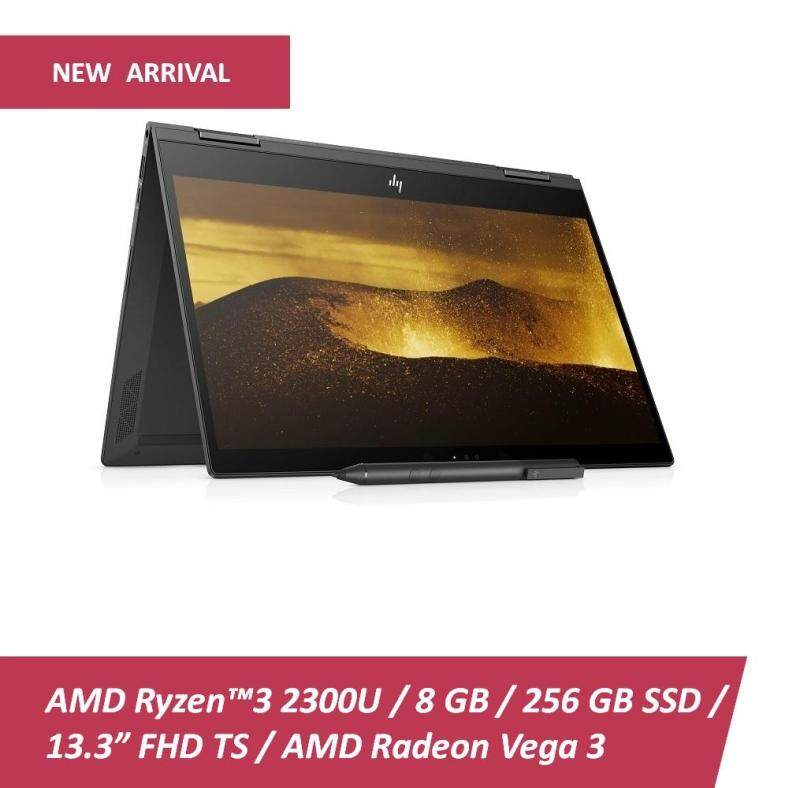 HP ENVY X360 13-AG0001AU AMDRYZEN NOTEBOOK [4KT87PA] (Ryzen3-2300U,8GB,256GB SSD,W10,13.3 inch, DARK ASH SILVER) FREE BACKPACK REDEEM ONLINE FOR HP SPROCKET PHOTO PRINTER Malaysia