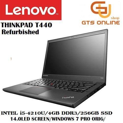 (Refurbished) Lenovo Thinkpad T440 Business Notebook (i5-4210U 2.70GHz,256GB SSD,8GB,14inch,W7P) Malaysia