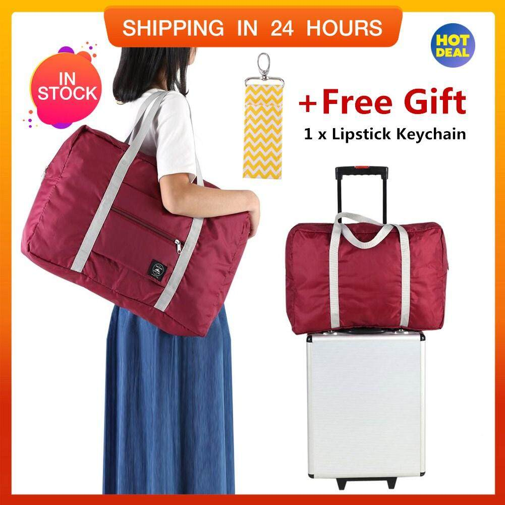 【free Gift】big Size Foldable Carry-On Duffle Bag Travel Luggage Carry Storage Bags Organizer By Highfly.
