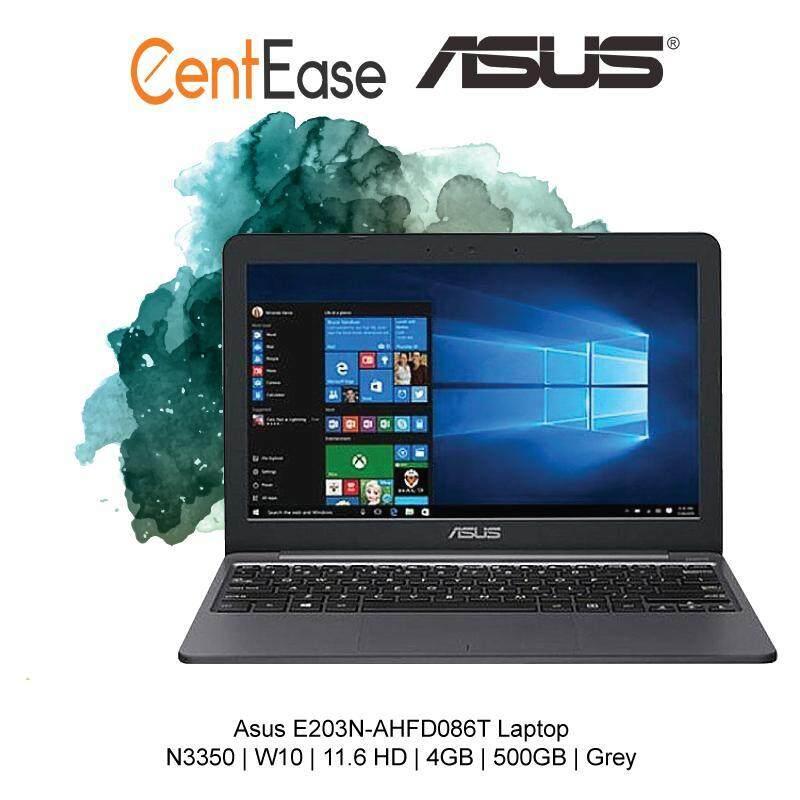 Asus E203N-AHFD086T Laptop - N3350 W10 11.6 HD 4GB 500GB Grey Malaysia