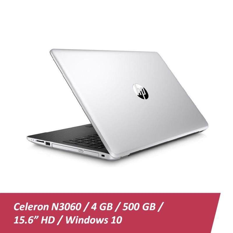 HP 15-bs098TU Laptop (Intel Celeron N3060, 4GB DDR3L RAM, 500GB HDD, 15.6, Win 10) - Natural Silver + Free HP Backpack Malaysia