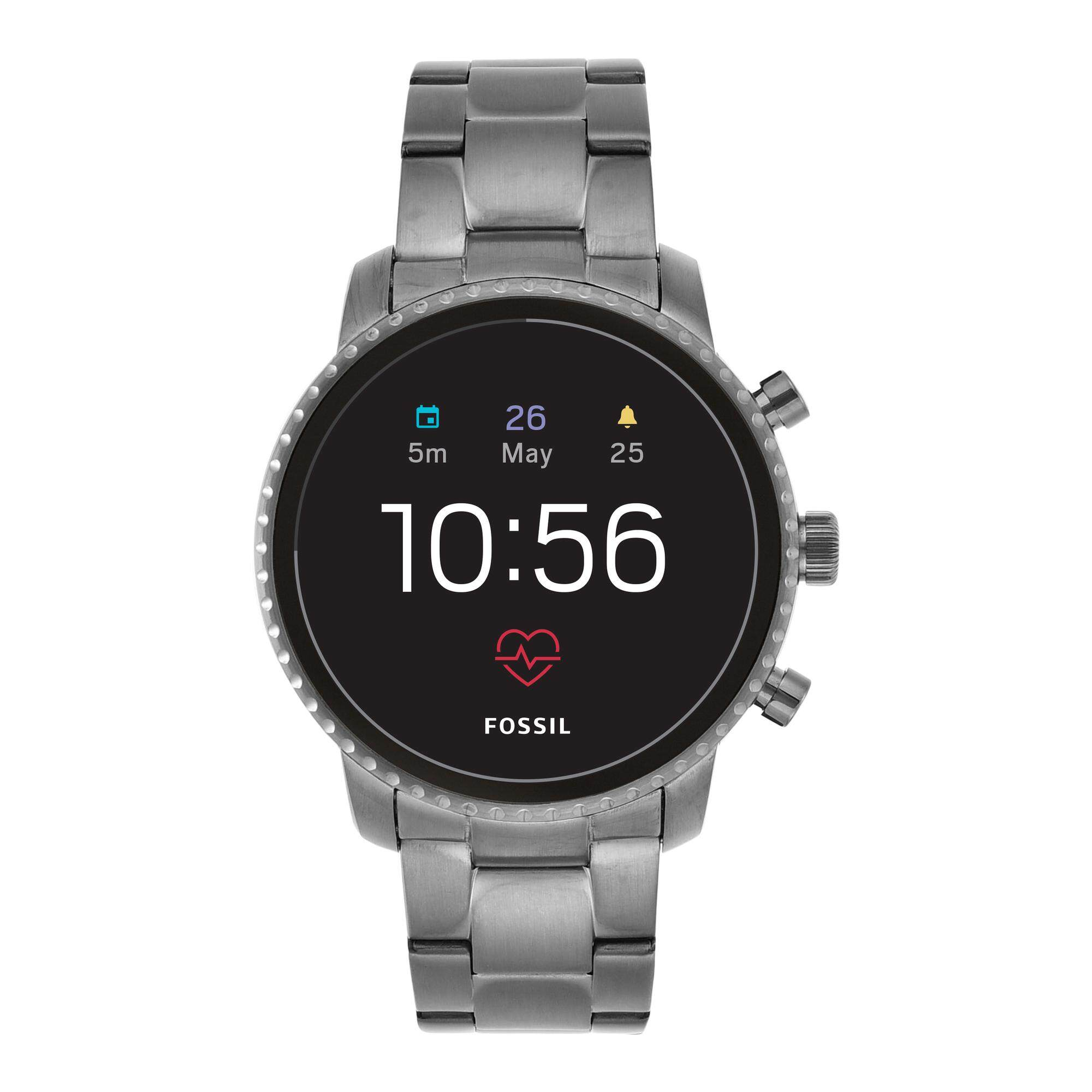 Fossil Explorist Gen 4 HR Gunmetal Smart Watch FTW4012 Malaysia
