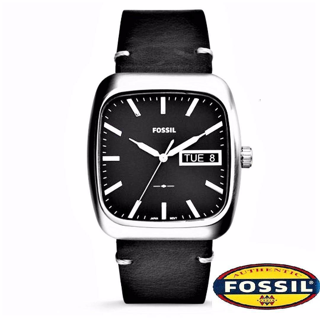 FOSSIL Rutherford Black Dial Leather Watch FS5330 Malaysia