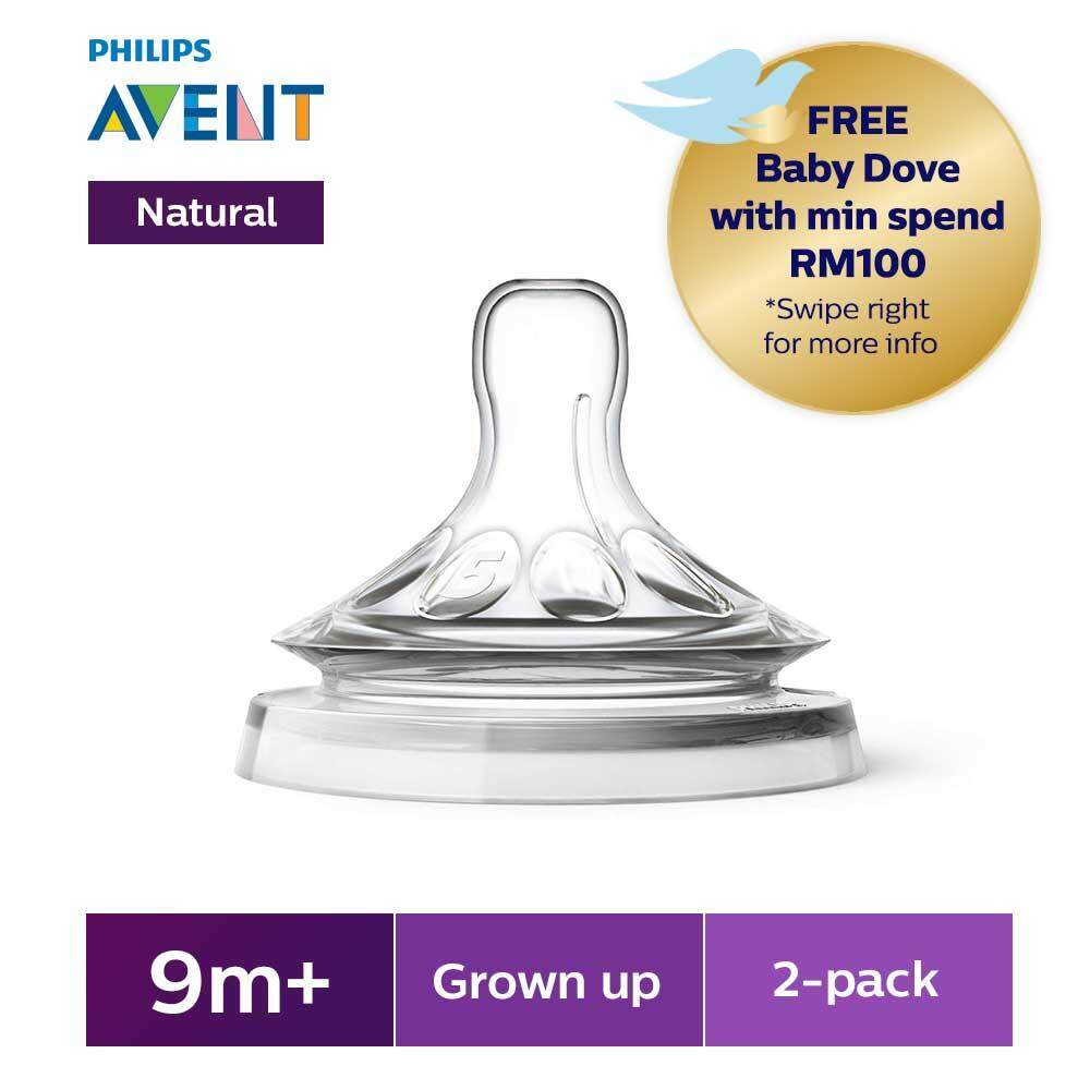 Buy Sell Cheapest Philips Avent Scf628 Best Quality Product Deals New Natural Skin Soft Nipple 2 Pack Medium Flow 3m Teats Grown Up 9m Pieces Scf658 23