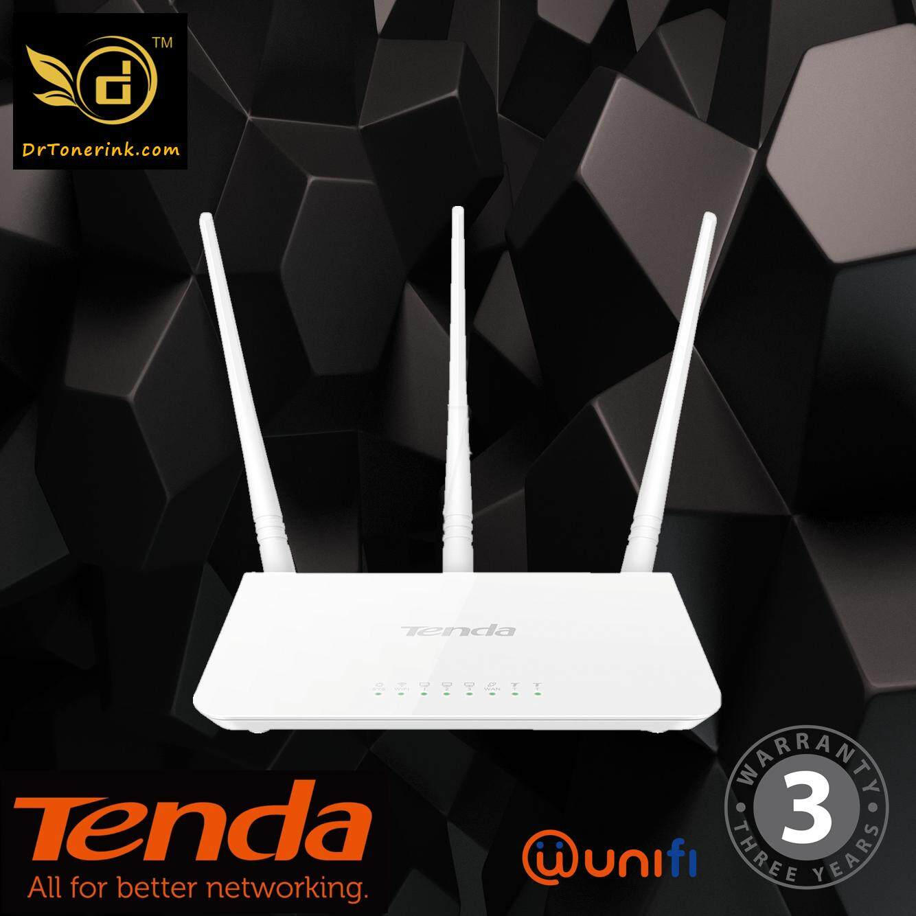 Tenda Unifi Buy At Best Price In Malaysia Lazada F3 300mbps Easy Setup Router 3x5dbi Wireless Wifi 3in1 For Maxis Fiber By Drtoner
