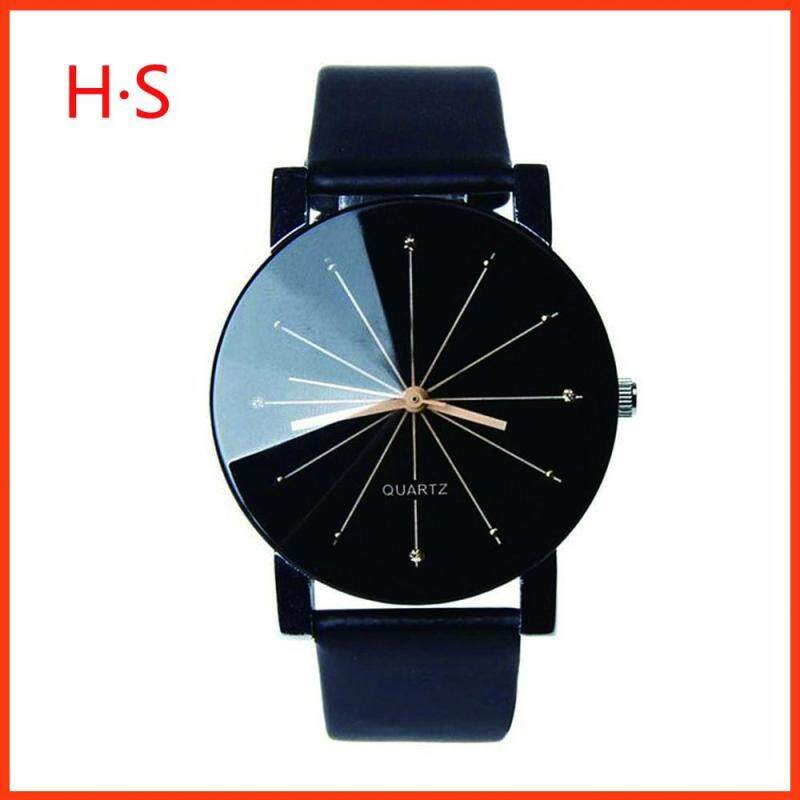 Lovers convex leather belt watch leisure Electronic quartz meter for watches of midday rhombus sweethearts Malaysia